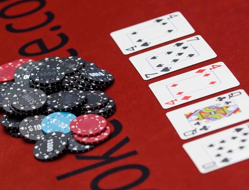 poker table hire cards